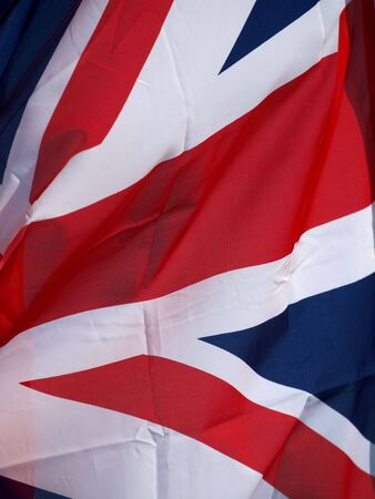 polity:   Color photo of British state flag in the wind