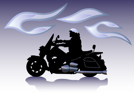motorcycle rider: Vector graphic motorcycle on Chrom. Saved in format for illustrator 8.