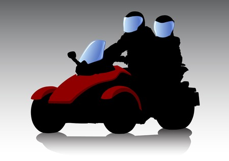 saved: Vector graphic motorcycle Quad. Saved in format for illustrator 8.