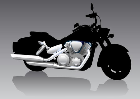 Vector graphic motorcycle on Chrom. Saved in format for illustrator 8. Vector