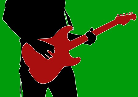 Vector drawing musicians from Electric guitar Vector