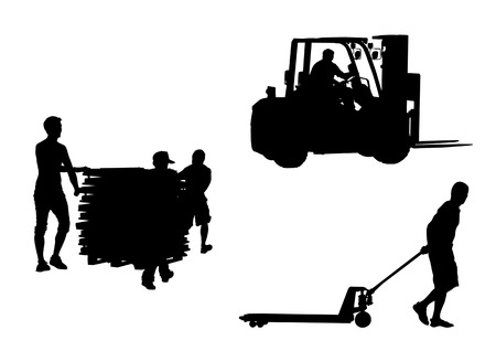 Vector drawing tools for the movement of goods Stock Vector - 5201318