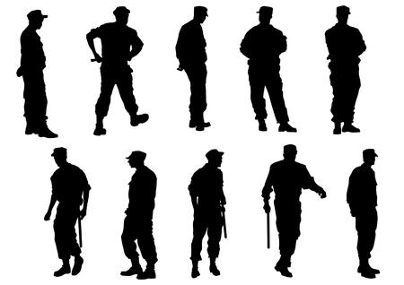 social issues: Vector immagine di agenti di polizia