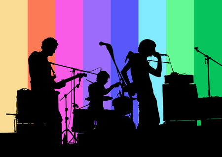 Vector drawing musical group in concert Stock Vector - 5201319
