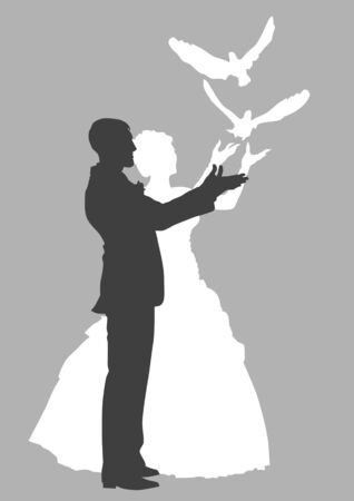 nuptials: Vector graphic wedding