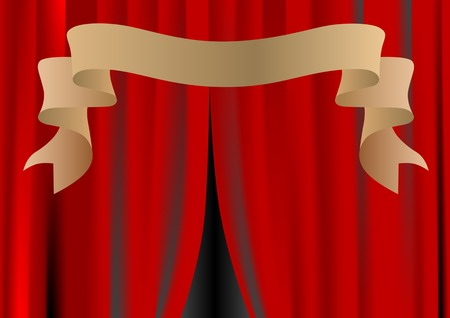 Vector drawing theater curtain Stock Vector - 5346600