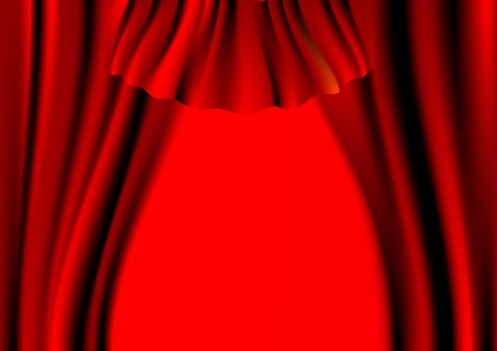 Vector drawing a red curtain over the scene Stock Vector - 5346666