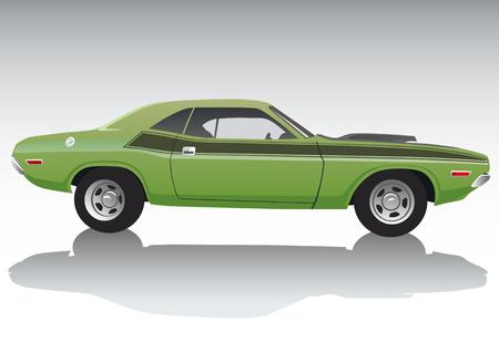 autosport: Vector drawing a sports car