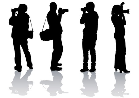 Vector drawing pictures from your camera. Silhouettes on white background Stock Vector - 5741808
