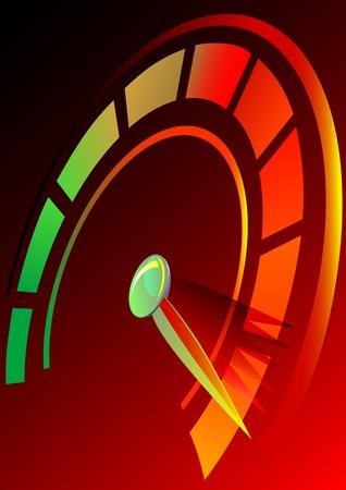 compteur de vitesse: Vecteur de dessin panneau indicateur de vitesse de la voiture. Taux de symbole