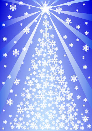 Vector drawing of a Christmas tree. Christmas Decorations and Lighting Stock Vector - 5905758
