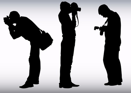 image of young photographers with equipment at work Stock Vector - 5951448