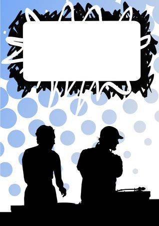 Vector drawing disc jockeys for musical equipment Stock Vector - 5972826