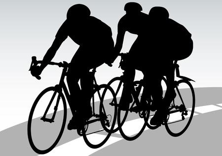 Vector tekening fiets races Vector Illustratie