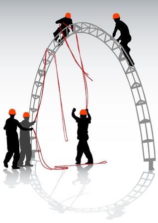 equipos trabajo: Plano de trabajo en la f�brica de vectores
