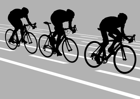 Vector drawing cyclists while driving
