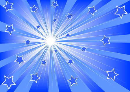 Vector drawing of bright light and stars Stock Vector - 6173996