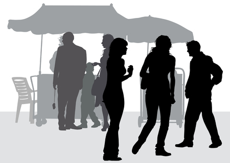 drawing scenes from urban life Vector