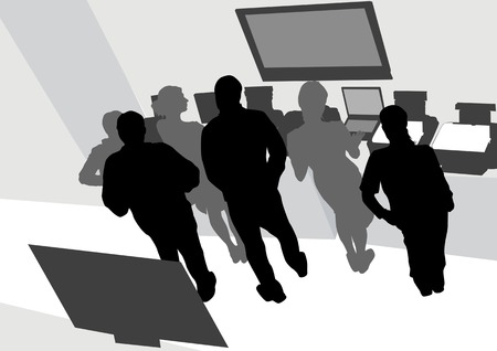 drawing man and women from office. Images workplace Vector