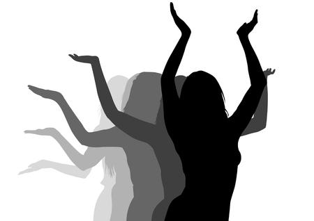 divas: dibujo de bailarinas bailando en el escenario