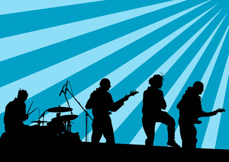 drawing musical group in concert on stage Stock Vector - 7219852