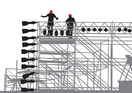 Vector drawing of lighting equipment on stage Stock Vector - 7303136