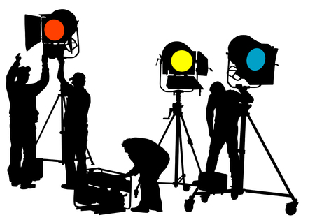 spotlight lamp: disegno di apparecchiature di illuminazione sul palco