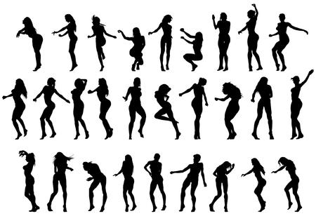 Slim and beautiful girls w bikini Ilustracje wektorowe