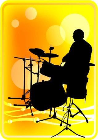 drum kit: graphic drummer at a concert