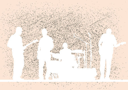 drawing musical group in concert Vector