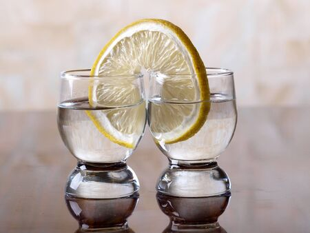 tequila and lemon        photo