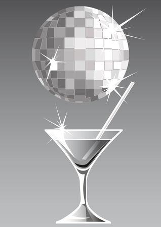 stirring: drawing martini glass in a nightclub