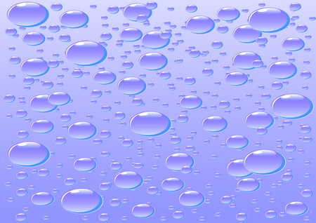 torrential: Vector drawing sheet glass with drops of rain Illustration