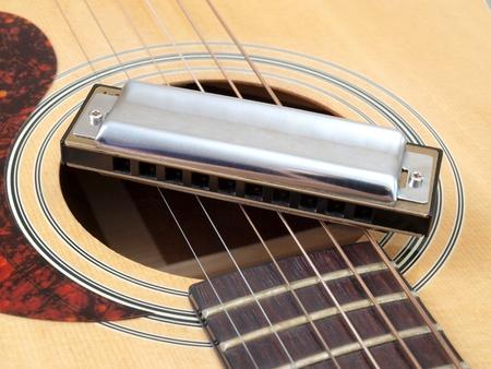 harmonica: acoustic guitar and harmonica