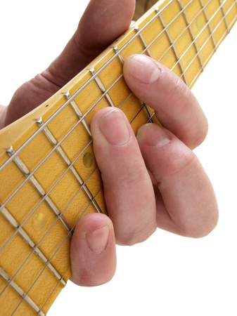 electric guitar and hand       Stock Photo