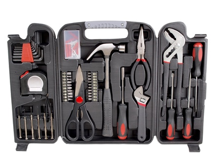 toolkit: a suitcase with work tools