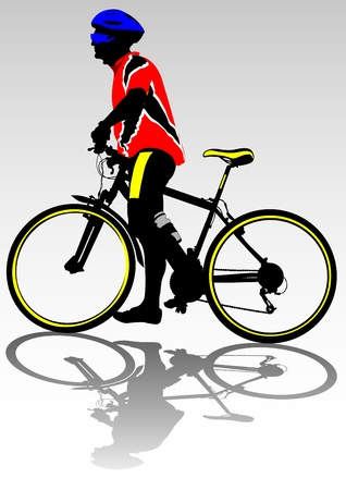 Vector image of a cyclist fit Vector