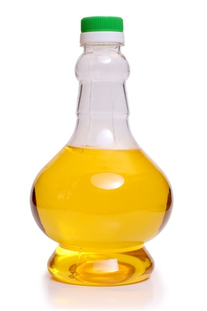 Color photo of oil in a glass bottle Stock Photo - 9827553