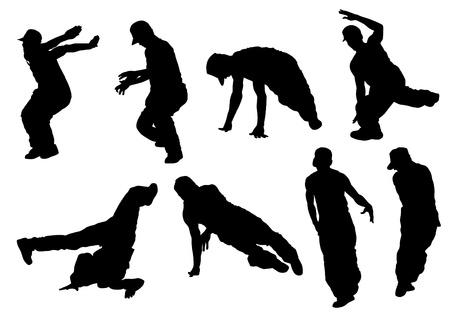 Vector drawing disco dancers Stock Vector - 10291624