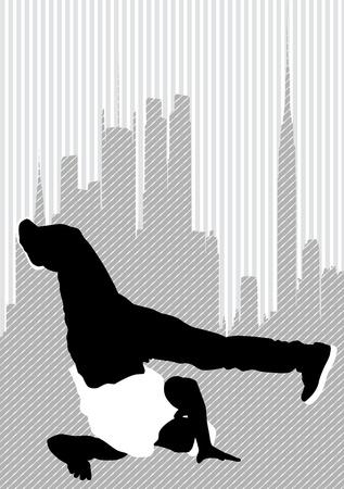 Vector drawing disco dancers Stock Vector - 10291630