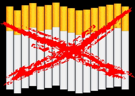 pernicious: Vector drawing of filter cigarettes