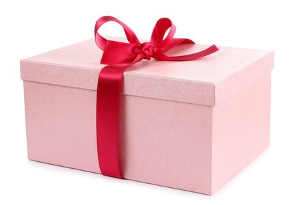 Color photo of a box and red ribbon Stock Photo - 10420109