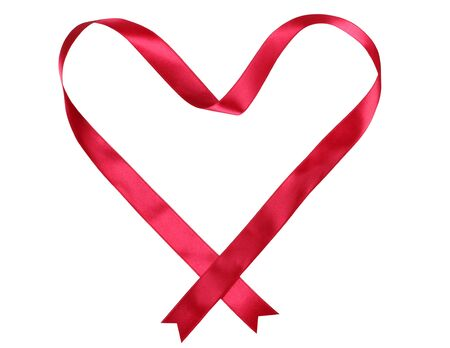 Color photo of a heart ribbon Stock Photo - 10420097