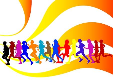 donna che corre: Concorso di disegno su Esegui Vettoriali