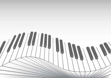 keyboard player: image of keys piano