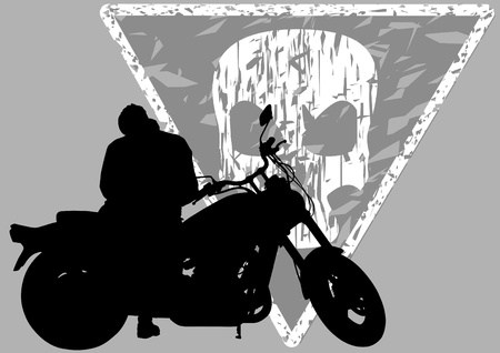 motorcyclist:  drawing a big motorcycle