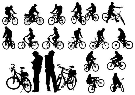 cyclist silhouette: Vector image of a cyclist fit Illustration