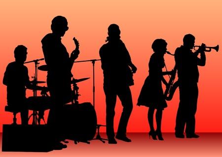 dibujo concierto de música jazz