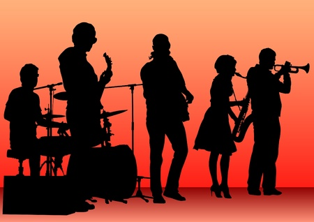 drawing concert of jazz music Vector