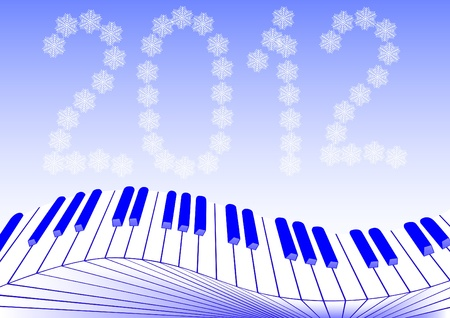 image of keys piano new year Vector